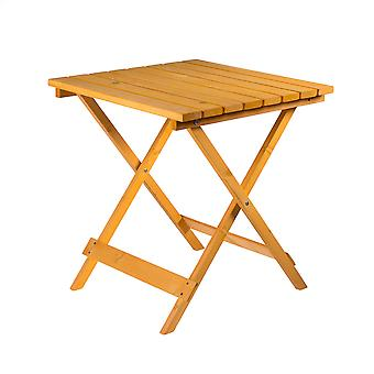Wooden Square Folding Garden Patio Side Table - Coffee Snack Picnic Dining Drink