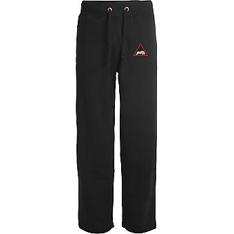 1st Armoured UK Division - Licensed British Army Embroidered Open Hem Sweatpants / Jogging Bottoms