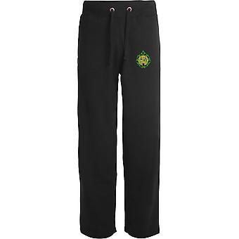 Argyll - Sutherland Highlanders - Licensed British Army Embroidered Open Hem Sweatpants / Jogging Bottoms
