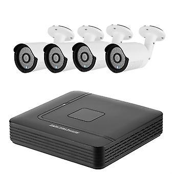 A4b2 4 canais AHD DVR sistema-4 HD IP66 720p câmeras, detecção de movimento, 20m visão noturna, monitoramento remoto