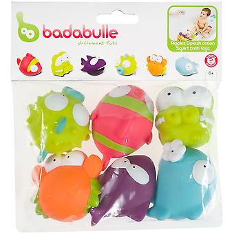 Badabulle Ocean Animals Bath Toys X 6