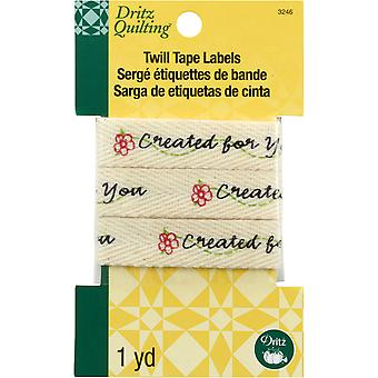 Dritz Quilting Twill Tape Labels 36