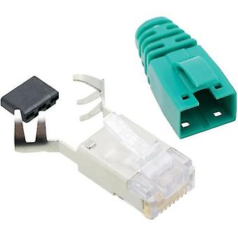 BEL Stewart Connectors SS39GNE SS39GNE RJ45 Connector CAT 6 8P8C RJ45 Plug, straight Green