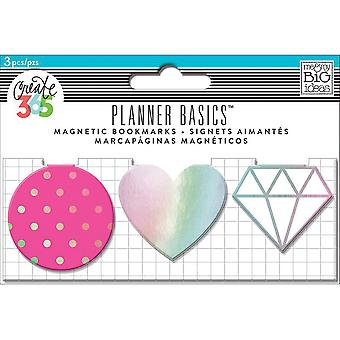 Create 365 Happy Planner Magnetic Clips 3/Pkg-Neon MAGC-09