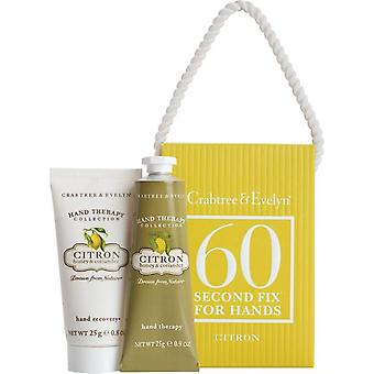 Crabtree & Evelyn Citron, Honey & Coriander 60 Second Fix Kit for Hands Mini