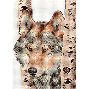 Wolf Mini Counted Cross Stitch Kit-5