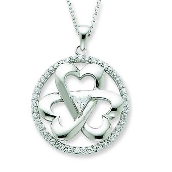 Sterling Silver Cubic Zirconia Legacy Of Love 18inch Necklace