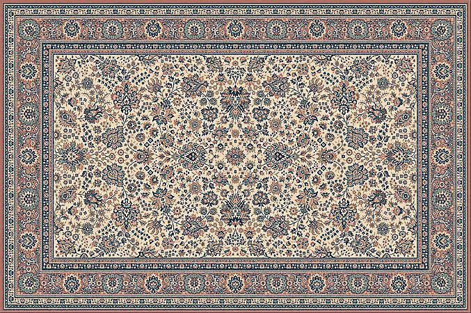 Royal Russet 1561-515 Ivory ground with russet border  Rectangle Rugs Traditional Rugs