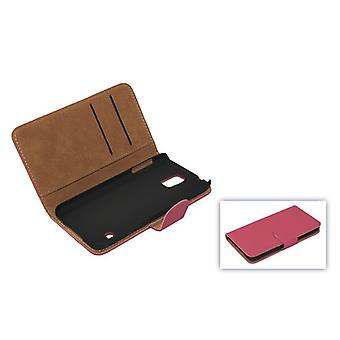 Protective case pouch (flip cross) for mobile phone Apple iPhone 5 / 5 s pink