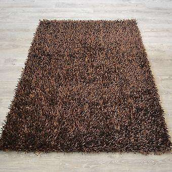 Spider Shaggy Rugs In Chocolate Brown