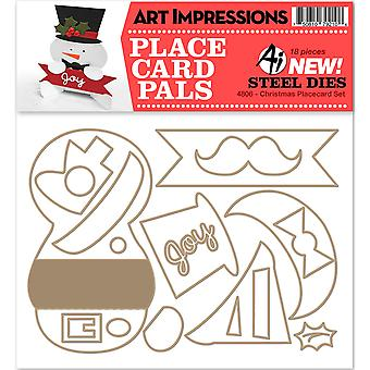 Art Impressions Die-Christmas Placecard Set AI4806