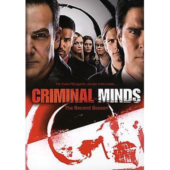 Criminal Minds - kriminell sinn: sesong 2 [DVD] USA import