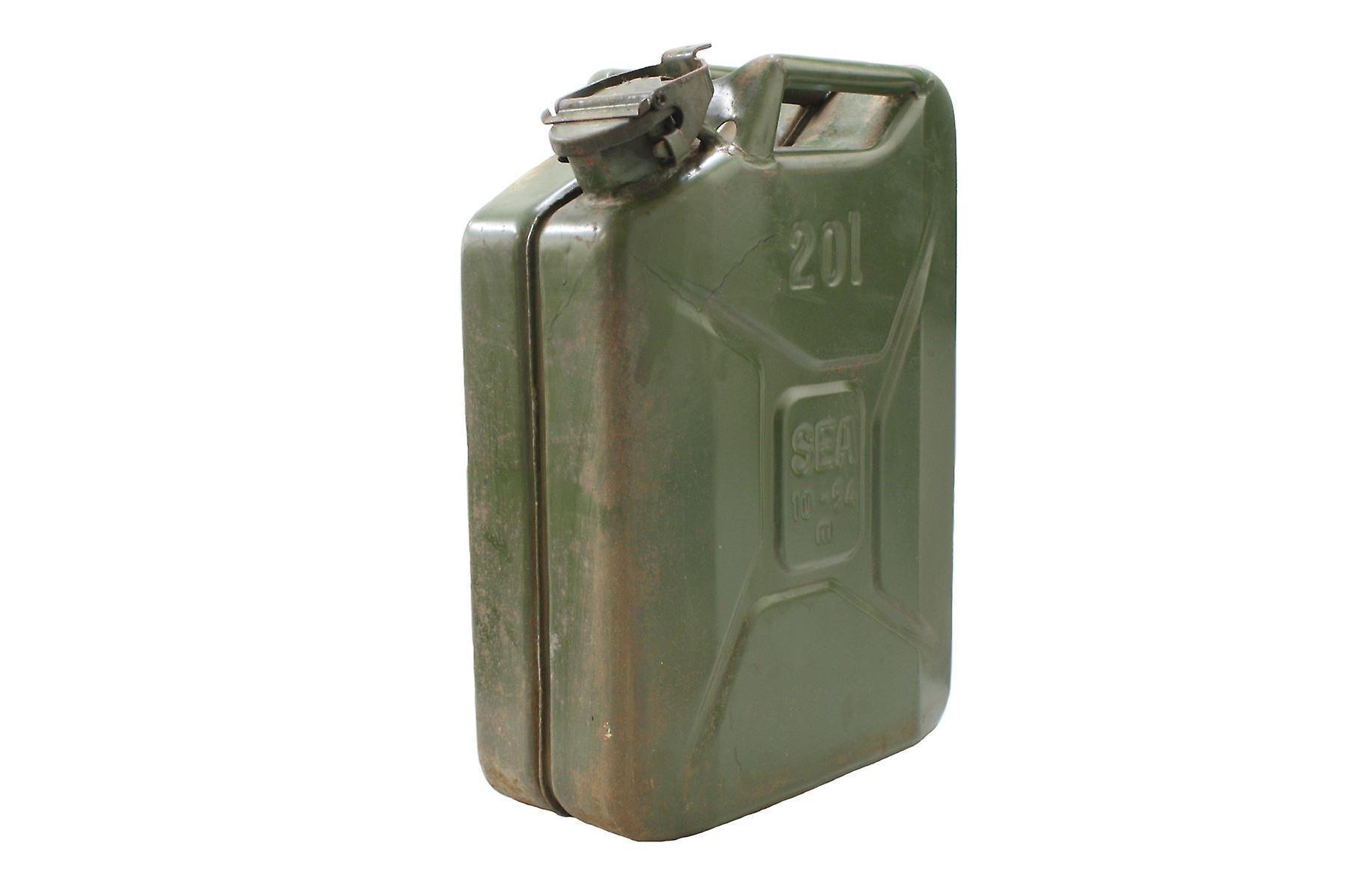 vintage military jerry can 20l petrol storage fruugo. Black Bedroom Furniture Sets. Home Design Ideas