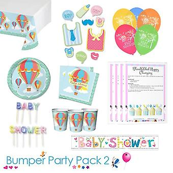 Up Up and Away Baby doccia Party Tableware paraurti Pack 2