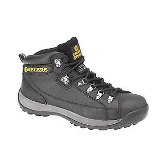 Amblers Steel FS123 Mens Safety Boots Textile Leather Rubber Phylon Sole Lace Up