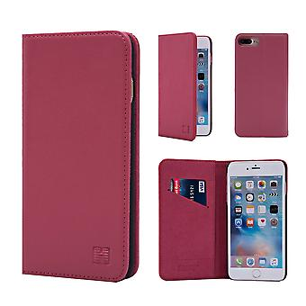 32nd Classic Real Leather Wallet for Apple iPhone 7 Plus   / iPhone 8 Plus - Rose Pink