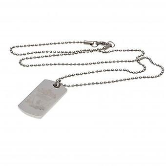 Liverpool Engraved Crest Dog Tag & Chain CR