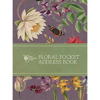 RHS Floral Pocket Address Book(Pocket size) (Diary) by Royal Horticultural Society