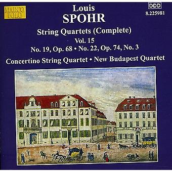 L. Spohr - Spohr: Complete String Quartets, Vol. 15 [CD] USA import