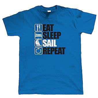 Vectorbomb, spiser søvn sejl Repeat T Shirt (S til 5XL)