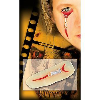 Zombie scar zip zipper Silicone adhesive Halloween horror