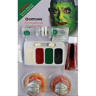 Make up set Frankenstein with contact lenses makeup blood Stud