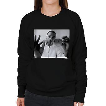 Kanye West durch Sonnenbrille Damen Sweatshirt