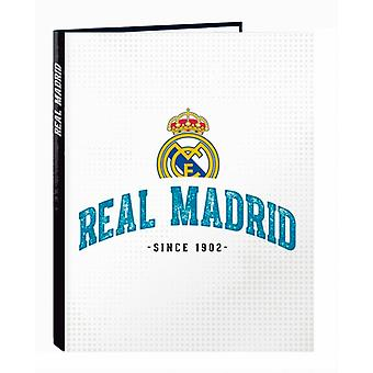 Real Madrid Carpeta Folio 4 Anillas Mixtas Real Madrid 17/18