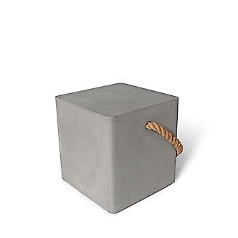 Lyon Beton Concrete Soft Edge Stool with Wheels & Rope