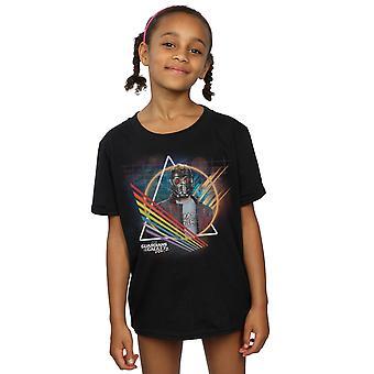 Marvel Mädchen Hüter des Galaxy Neon Star Lord maskiert T-Shirt