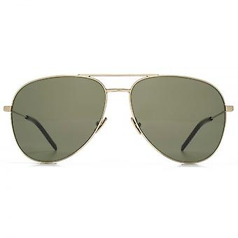 Occhiali da sole Aviator Saint Laurent Classic 11 In oro verde