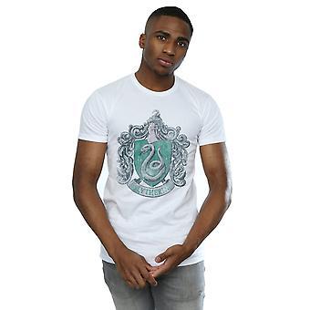 Harry Potter Men's Slytherin Distressed Crest T-Shirt