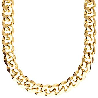 Iced Out Edelstahl CURB Set - Kette & Armband gold