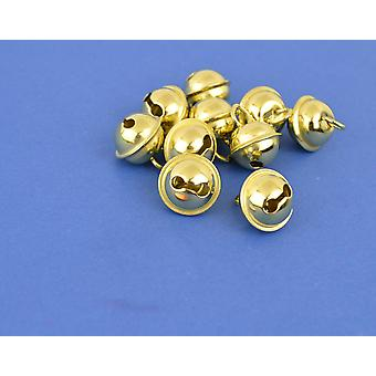 100 Gold 9mm Cat Bell Style Jingle Bells for Crafts