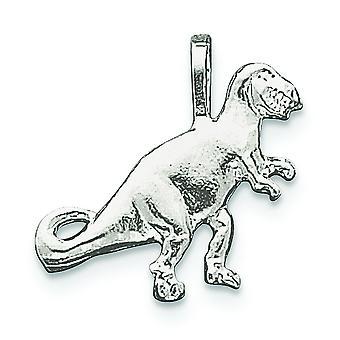 De retour en argent massif poli Open pendentif de T-Rex - 2,3 grammes