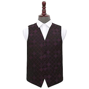 Cadbury Purple Diamond  Wedding Waistcoat