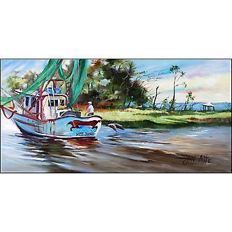 Shrimp Boats Miss Jeanie Indoor or Outdoor Runner Mat 28x58