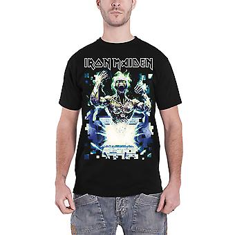 Iron Maiden T Shirt Speed Of Light Eddie band logo new Official Mens Black