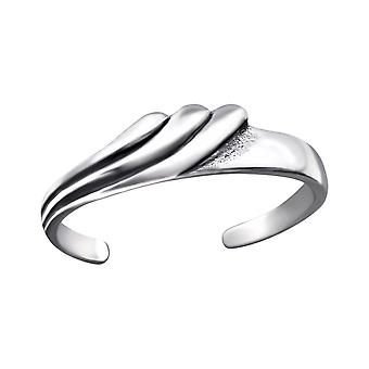 Wave - 925 Sterling Silver Toe Rings - W27170X