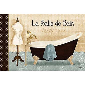 La Salle de Bain Poster Print by Mollie B (18 x 12)