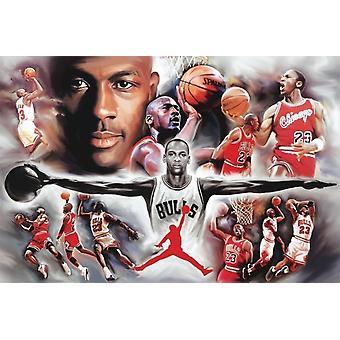Michael Jordan Collage Poster Poster Print