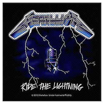 Metallica Patch Ride The Lightning band logo officielle ny sort (10 cm x 10 cm)