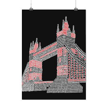 Matte of glanzende Poster met London Tower Bridge UK | Wellcoda | * d2376