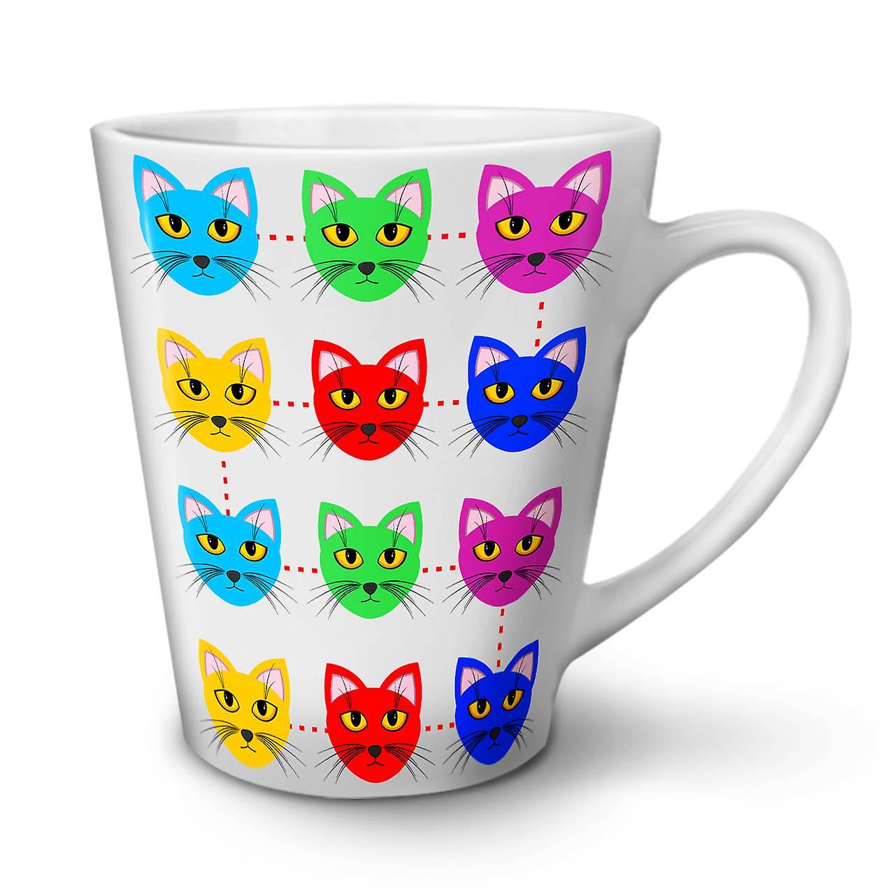 Coloré Mignon Mug Poilu Céramique Latte 12 Nouveau En OzWellcoda Blanc Café Thé LRj54A