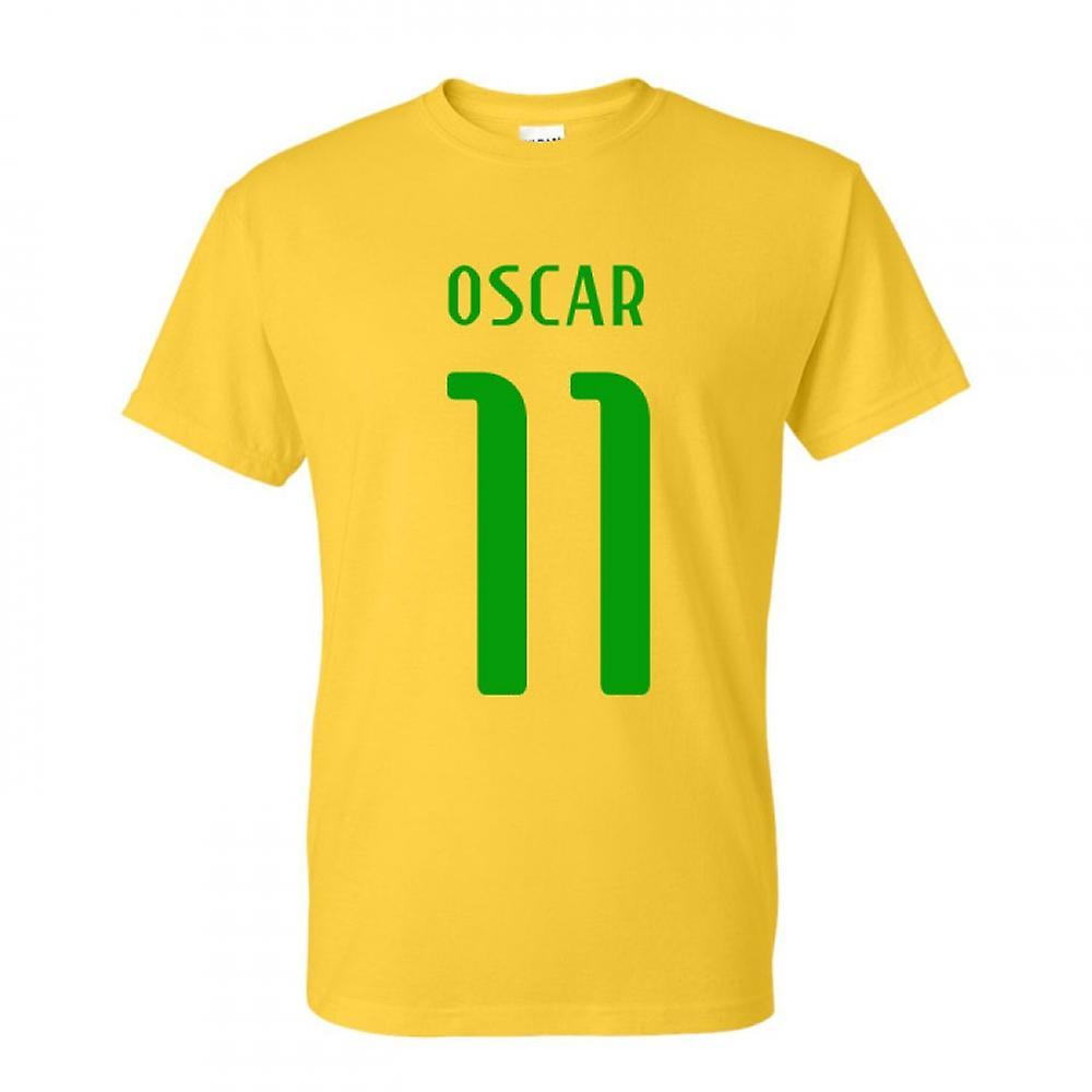 T-shirt Brasile Oscar Hero (giallo)