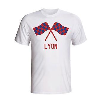 Lyon Waving Flag T-shirt (biały)