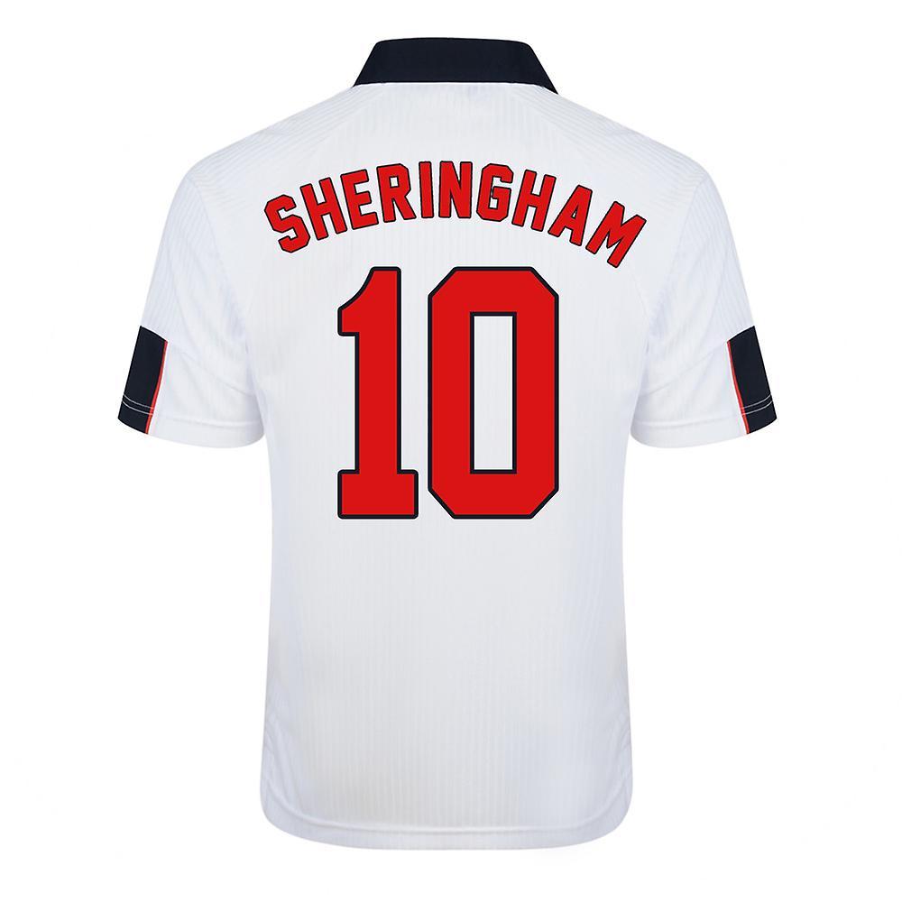 Score Draw England World Cup 1998 Home Shirt (Shebagueham 10)