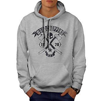 WoodBikerss Club Men GreyHoodie | Wellcoda