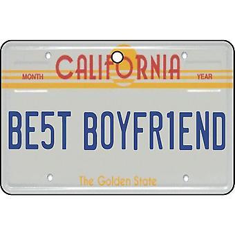 California - Best Boyfriend License Plate Car Air Freshener