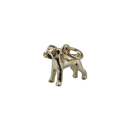 9ct Gold 11x14mm boxer dog mini charm
